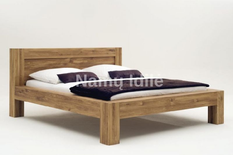 """Ąžuoliniai baldai. Medinė lova """"Bona"""""""