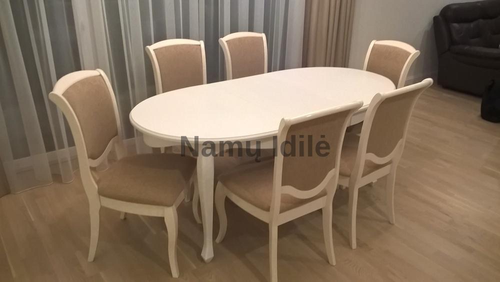 Dažytas medinis stalas Klasika. Mediniai stalai