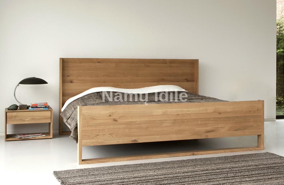 """Medinė lova """"MARI"""". Masyvo mediniai baldai. Medinės lovos. Pigios lovos."""